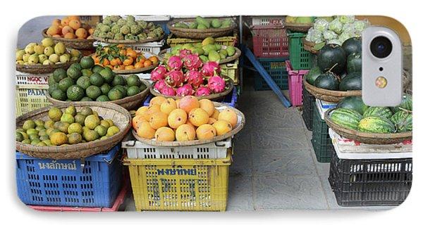 Fresh Veggies Fruit Streets Vietnam  IPhone Case by Chuck Kuhn