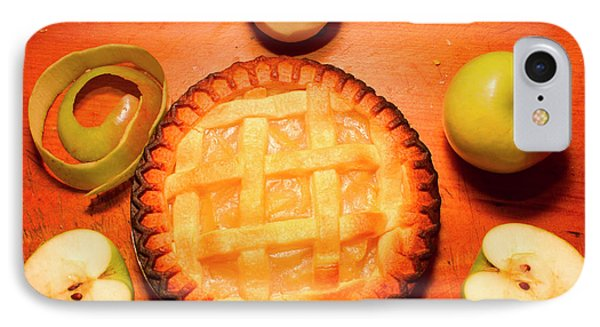 Freshly Baked Pie Surrounded By Apples On Table IPhone Case by Jorgo Photography - Wall Art Gallery