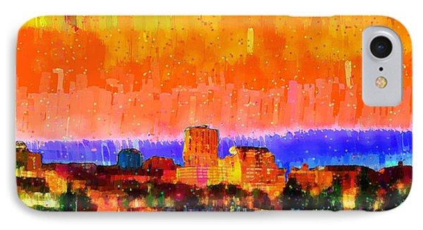 Fresno Skyline 105 - Pa IPhone Case by Leonardo Digenio