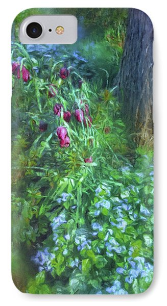 IPhone Case featuring the photograph Fritillaria And Forget-me-nots  by Connie Handscomb