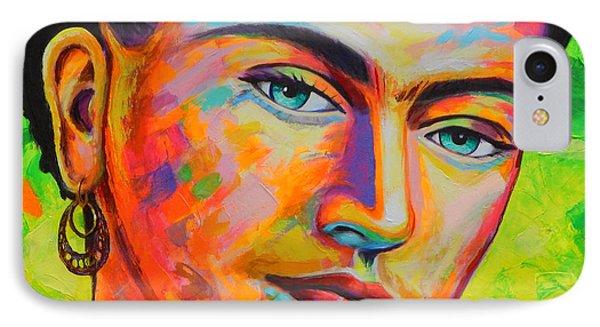 Frida IPhone Case by Angel Ortiz