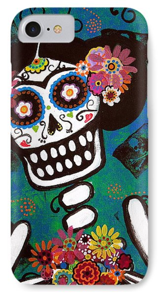 IPhone Case featuring the painting Frida Dia De Los Muertos by Pristine Cartera Turkus