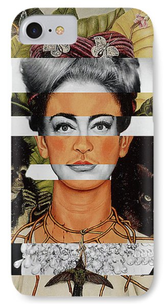 Frida Kahlo And Joan Crawford IPhone Case by Luigi Tarini