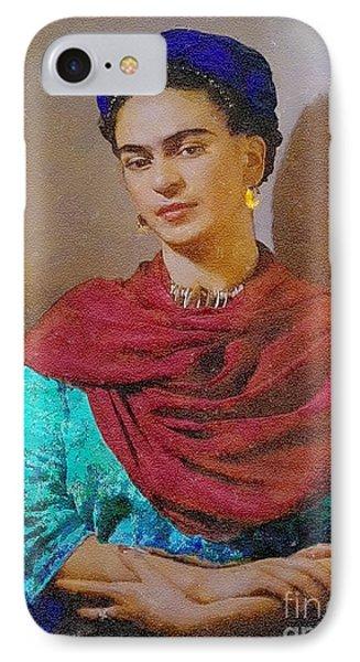 Frida Kahlo IPhone Case by John  Kolenberg