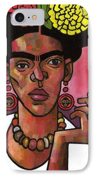 Frida Listening IPhone Case by Douglas Simonson