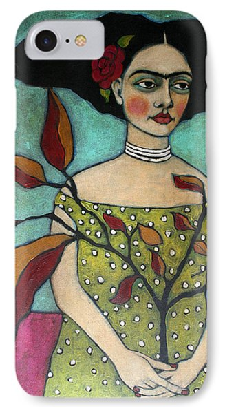 Frida With A Branch IPhone Case by Jane Spakowsky
