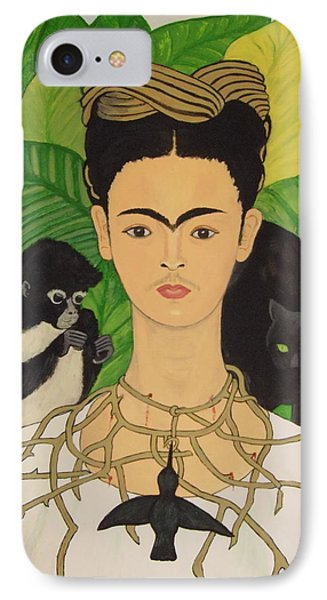 Frida With Monkey And Cat IPhone Case