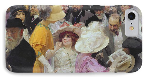 Friday At The French Artists Salon IPhone Case by Jules Alexandre Grun