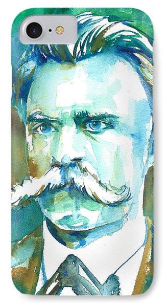Friedrich Nietzsche Watercolor Portrait.1 IPhone Case