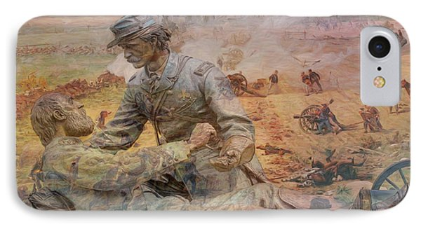Friend To Friend Monument Gettysburg Battlefield IPhone Case by Randy Steele