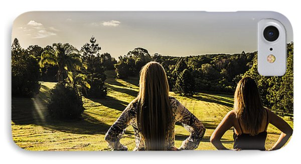 Friends Enjoying A Sunshine Coast Sunset IPhone Case by Jorgo Photography - Wall Art Gallery