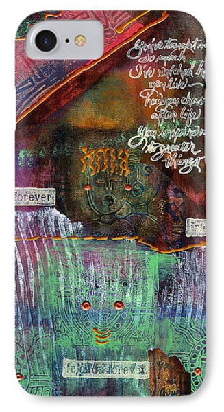IPhone Case featuring the mixed media Friends Forever by Angela L Walker
