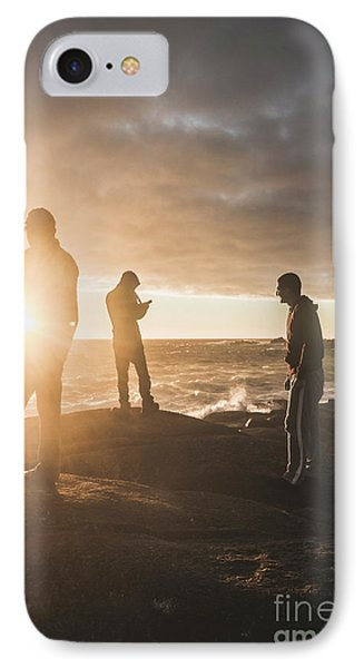 Friends On Sunset IPhone Case by Jorgo Photography - Wall Art Gallery