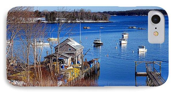 Friendship Harbor In Winter IPhone Case