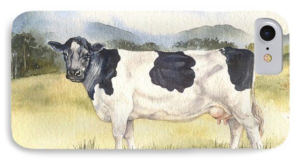 IPhone Case featuring the painting Friesian Cow by Sandra Phryce-Jones