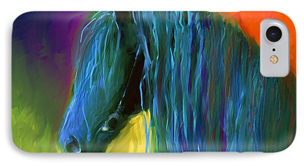 Friesian Horse Painting 2 Phone Case by Svetlana Novikova