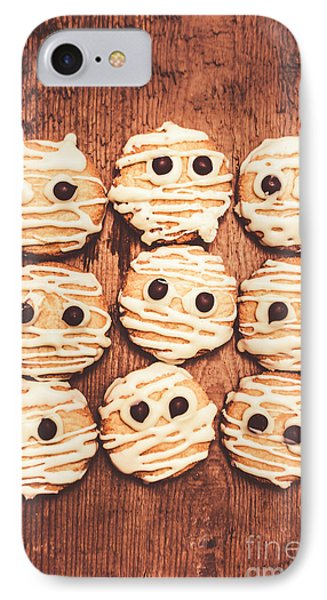 Frightened Mummy Baked Biscuits IPhone Case