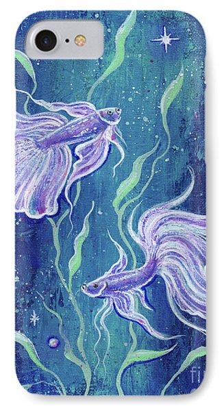 Frilly Betta Fish IPhone Case by Renee Lavoie