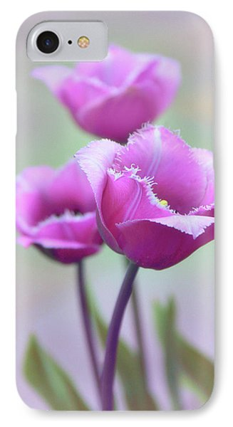 IPhone 7 Case featuring the photograph Fringe Tulips by Jessica Jenney