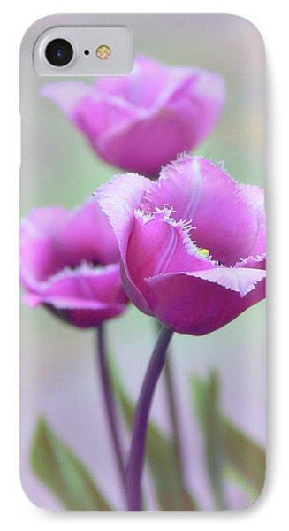 IPhone Case featuring the photograph Fringe Tulips by Jessica Jenney