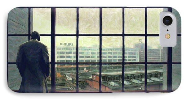 Frits Is Overlooking His Philips Plants In Eindhoven IPhone Case by Nop Briex