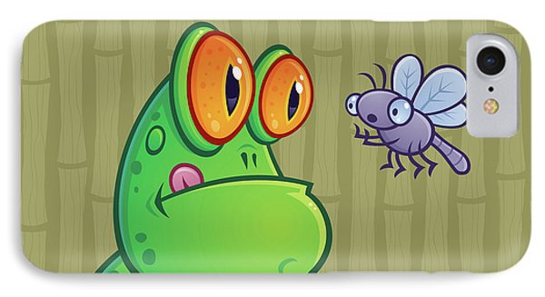 Frog And Dragonfly Phone Case by John Schwegel