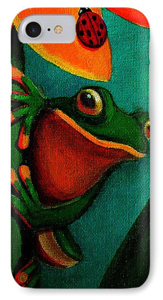 Frog And Ladybug IPhone Case by Nick Gustafson