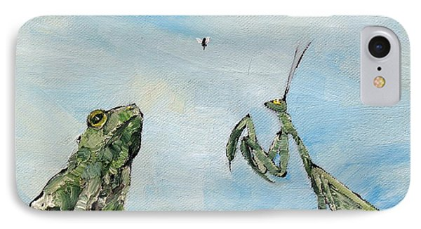Frog Fly And Mantis Phone Case by Fabrizio Cassetta
