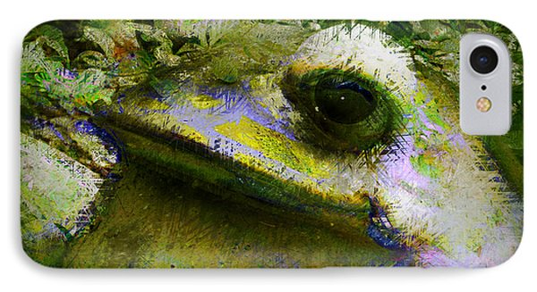 IPhone Case featuring the photograph Frog In The Pond by Lori Seaman