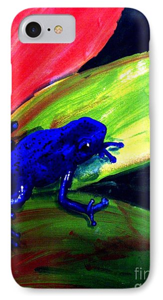 Frog On Leaf Phone Case by Michael Grubb