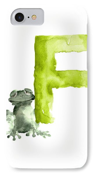Frog Watercolor Alphabet Painting IPhone 7 Case by Joanna Szmerdt