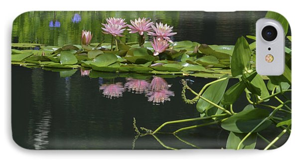 Water Lily Reflections Phone Case by Linda Geiger