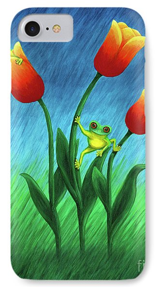 Froggy Tulips IPhone Case