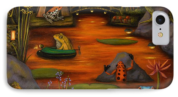 Frogland 2 IPhone Case by Leah Saulnier The Painting Maniac