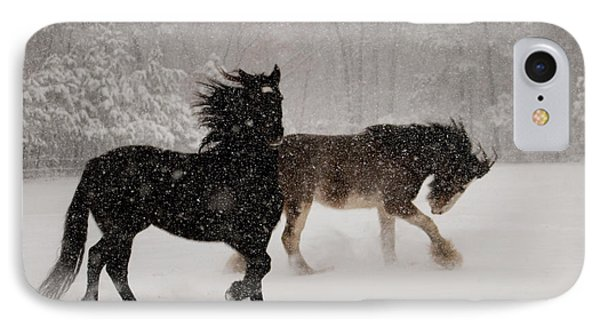 Frolic In The Snow Phone Case by Kristia Adams
