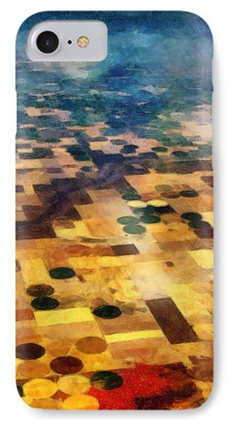 IPhone Case featuring the digital art From Above by Michelle Calkins