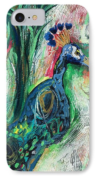 From Abstract To Peacock IPhone Case by Kim Heil