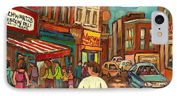 From Schwartz's To Warshaws To The  Main Steakhouse Montreal's Famous Landmarks By Carole Spandau  Phone Case by Carole Spandau