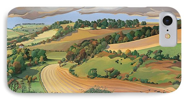 From Solsbury Hill IPhone Case by Anna Teasdale