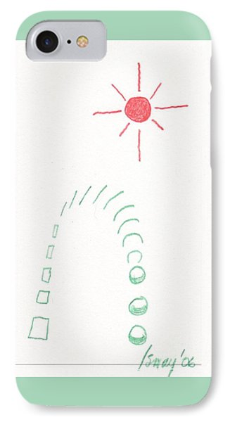 IPhone Case featuring the drawing From Square To Sphere by Rod Ismay