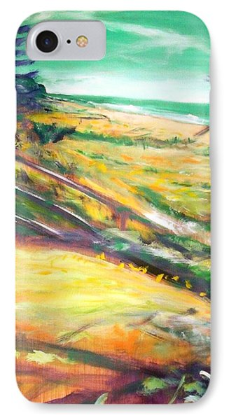 IPhone 7 Case featuring the painting From The Lawn Pandanus by Winsome Gunning