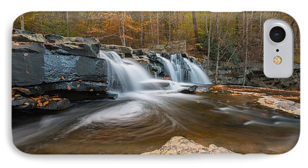 From The Top Brush Creek Falls IPhone Case by Rick Dunnuck