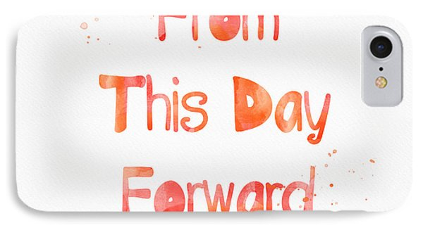 From This Day Forward IPhone Case by Linda Woods