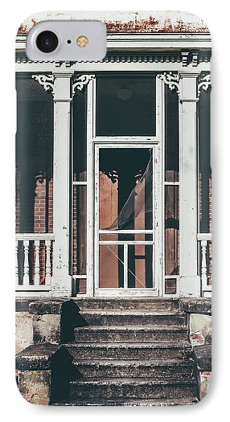 IPhone Case featuring the photograph Front Door Of Abandoned Building by Kim Hojnacki