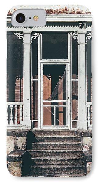 Front Door Of Abandoned Building IPhone Case