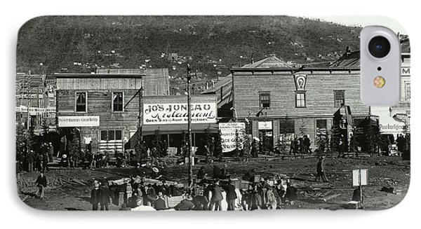 Front Street Of Dawson City IPhone Case by Photo Researchers