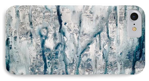 Frost And Rain On The Windows IPhone Case by T Fry-Green