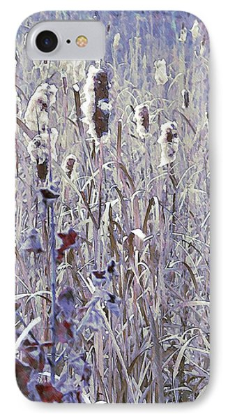 Frosted Cattails In The Morning Light IPhone Case by Joy Nichols