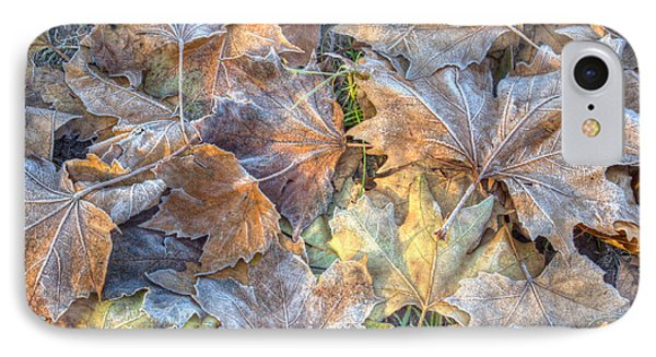 Frosted Leaves 8x10 IPhone Case