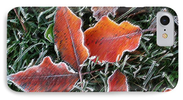 IPhone Case featuring the photograph Frosted Leaves by Shari Jardina